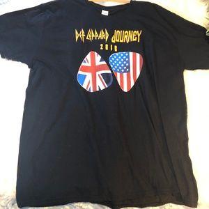 Men's Def Leopard Journey Band Tour Tee T-Shirt 3X